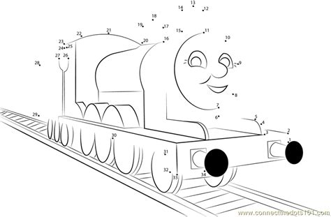 printable dot to dot train james the red engine dot to dot printable worksheet