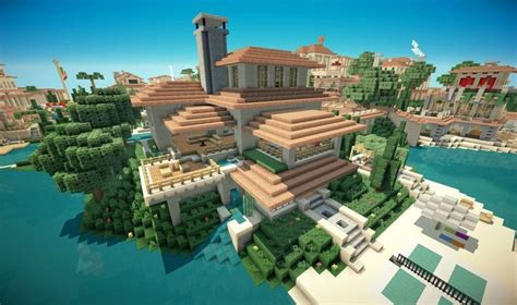 Minecraft Italian Villa   Mega city   Pinterest   Villas