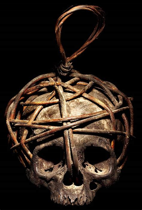 dayak head hunting human trophy skull david howard tribal