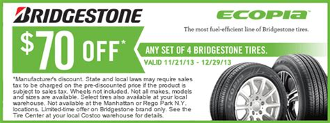 printable costco tires coupon  tire rebates september     expires