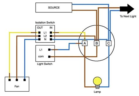 bathroom fan light switch wiring diagram gfci outlet