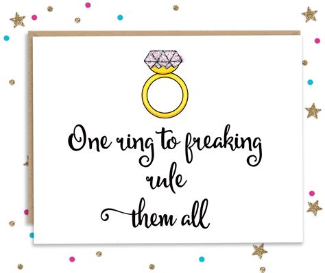 All Wedding Cards by One Ring To Rule Them All Wedding Congratulations Card