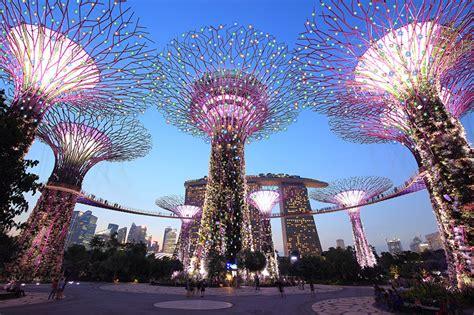 wallpaper singapore gardens   bay parks evening cities