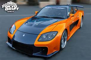mazda rx 7 fortune orange black tokyo drift specification