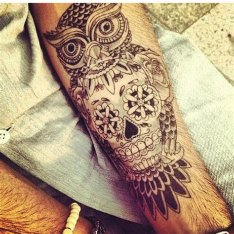 tattoo owl skull owl skull tattoo love pinterest