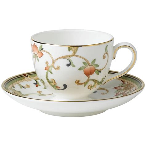 Tea Cup by Wedgwood Oberon Leigh Flora Teacup And Saucer Set