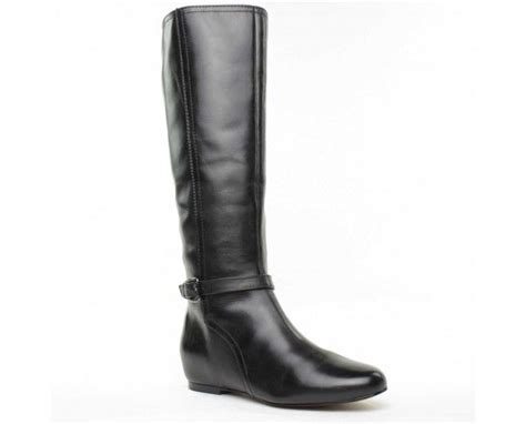 black knee high boots with heel 14 quot calf ideal