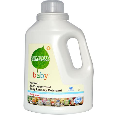 the baby laundry for seventh generation natural 2x concentrated baby laundry detergent 50 fl oz 1 47 l iherb com