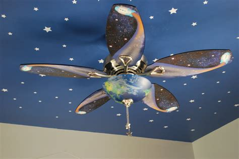 space ceiling fan fussy monkey business e s space themed room