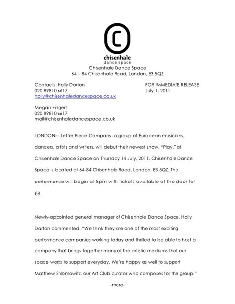 Release Letter Of A Company cds press release letter company