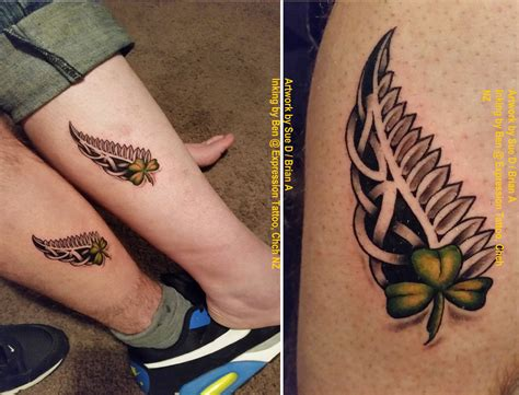 nz silver fern tattoo designs the joining of our two souls here nz silver fern me