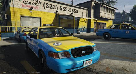 ford los angeles los angeles ford crown taxi 4k gta5 mods
