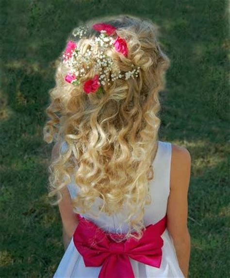 flower girl hairstyles curly little girls hairstyles beautiful collections