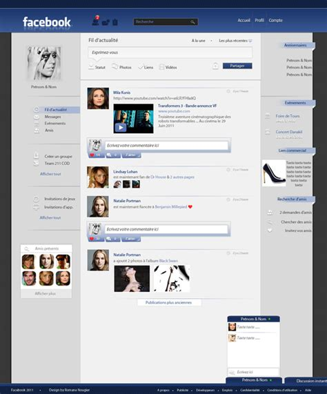 design house decor facebook 15 facebook redesign layouts that you will like