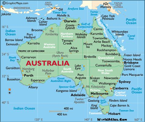 map of austarlia australia map think
