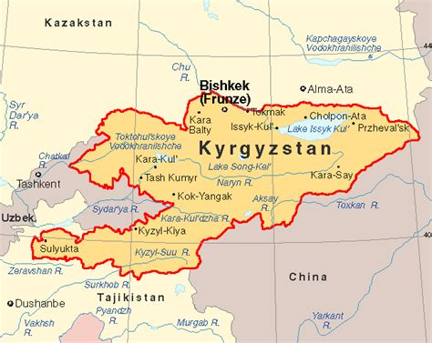 kyrgyzstan map country profile kyrgyz embassy to the uk