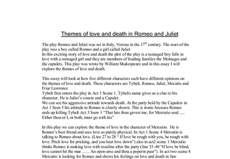 romeo and juliet themes of death themes of love and death in romeo and juliet gcse