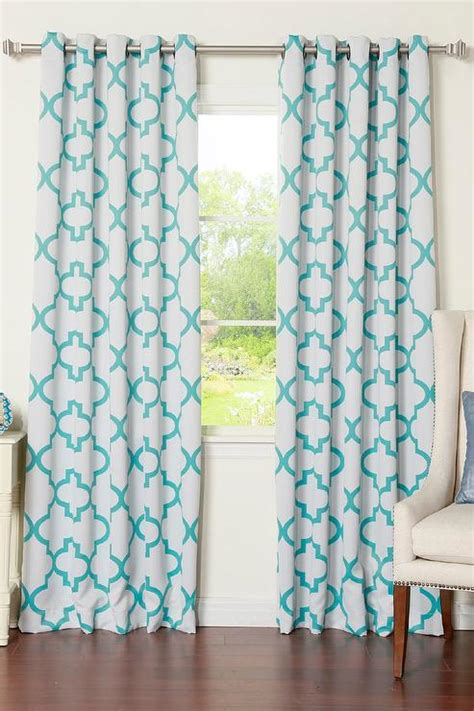 blue and white blackout curtains white and blue moroccan blackout curtain