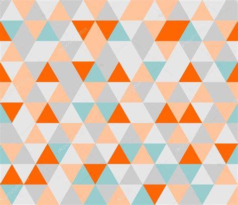 geometric pattern orange grey orange pink and mint green triangle geometric