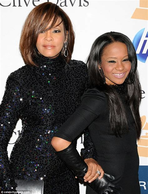 whitney houston and her daughter whitney houston s daughter bobbi kristina 18 devastated
