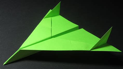 How To Make A High Flying Paper Airplane - origami avion how to make a paper airplane cool paper