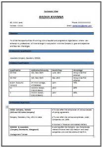 Resume Format For Experienced by Resume Format For Experienced 571 Http Topresume