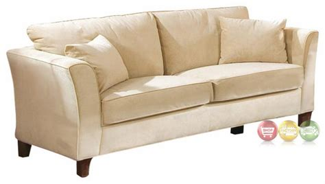 cream velvet sofa park place contemporary cream colored velvet sofa 500231