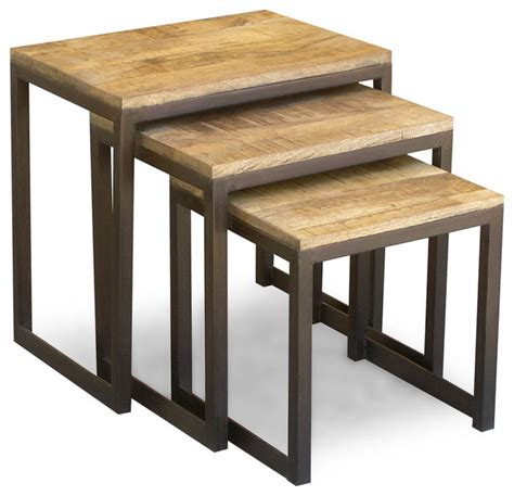 Ballard Designs Shelves reclaimed wood and iron nesting tables eclectic side
