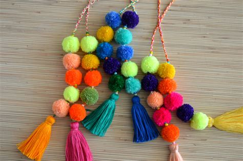 Accessories For Your Handbag Tassles And Charms by Pom Pom Bag Charm Tassel Bag Charm Neon By