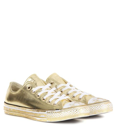 converse chuck all sneakers lyst converse chuck all metallic sneakers in