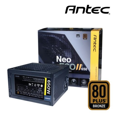 Antec Neo Eco Classic 650w 80 Bronze new antec neo eco ii 650w 80 plus bronze atx power supply
