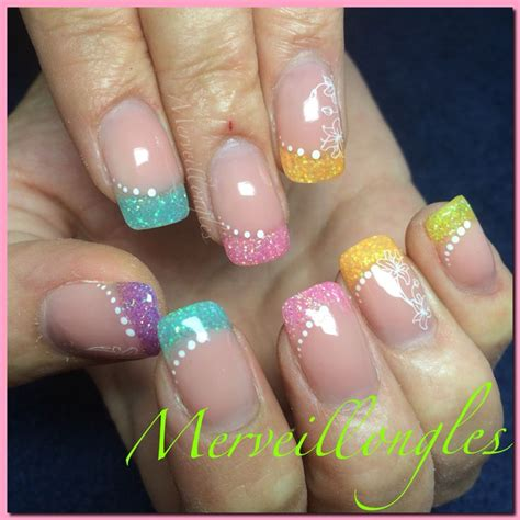 decoration ongles gel uv gel uv ongles en gel multicolore d 233 co paillettes et