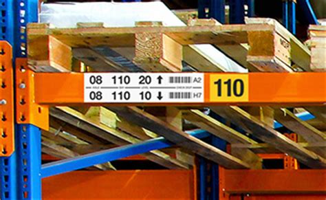 Warehouse Rack Labeling Systems by Labeltac 4 Industrial Label Printer