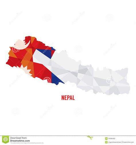 nepal map vector map of nepal stock vector image 54096462