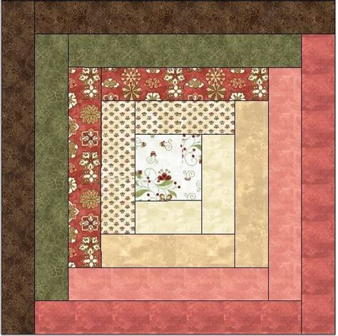 traditional log cabin quilt block by feverishquilter craftsy