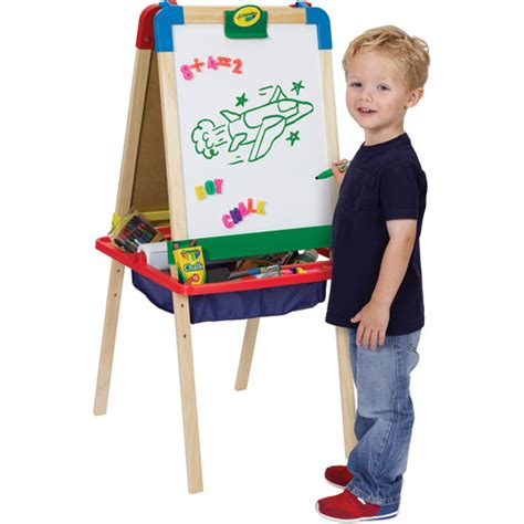 magnetic easel for toddlers crayola 3 in 1 magnetic wood easel walmart com