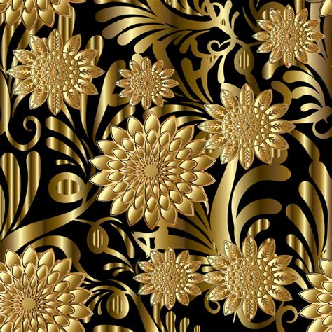pattern luxury photoshop luxury flowers seamless pattern vectors 09 vector flower