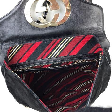 Gucci Britt Zip Pocket Messenger Bag by 65 Gucci Handbags Gucci Britt Black Suede Messenger