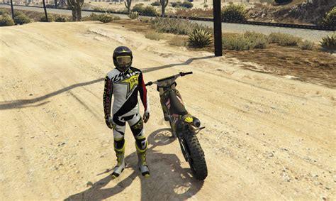 mod gta 5 rockstar rockstar energy motocross skin helmet gta5 mods com