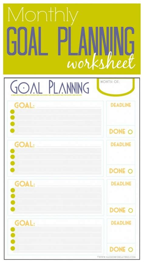 free goal planner printable 6 best images of goal planner printable free printable