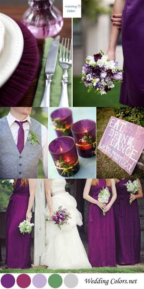 plum wedding colors color inspiration shades of purple plum wedding