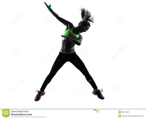 zumba steps video free download woman exercising fitness zumba dancing jumping silhouette