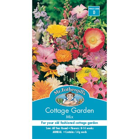 mr fothergill s cottage garden mix flower seed bunnings - Cottage Garden Seeds