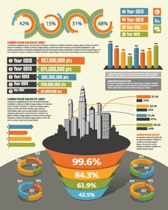 business infographic creative design 322 vector business
