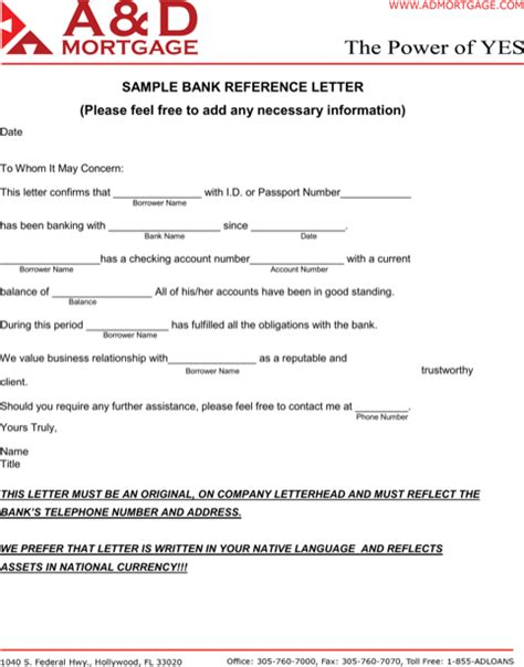 Letter Of Standing Bank Sle Bank Reference Letter Templates For Excel Pdf And Word