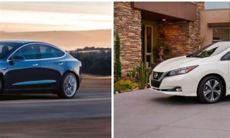 nissan tesla tesla model 3 vs 2018 nissan leaf a side by side comparison