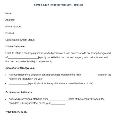 Home Loan Application Letter Sle Loan Processor Resume Sle 28 Images Sle Payday Loan Resume 2017 10 Sle Of Loan Processor