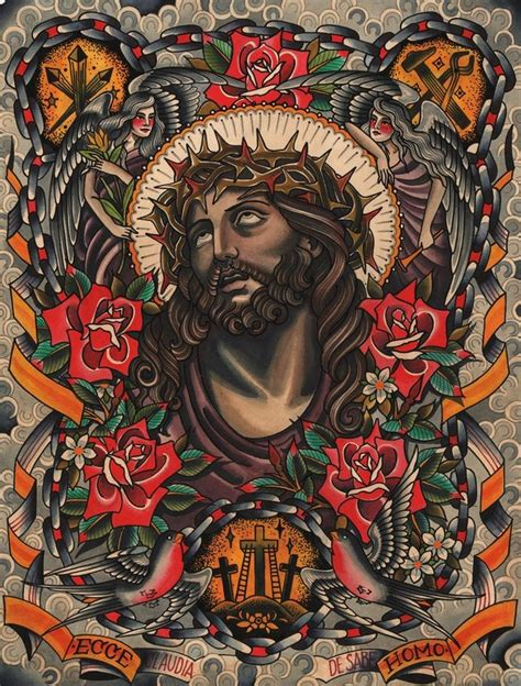 tattoo flash of jesus jesus claudia de sabe ilustracion pinterest tattoo