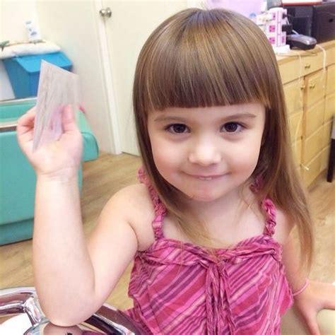 toddler haircuts girl bangs 25 best little girl bangs ideas on pinterest toddler