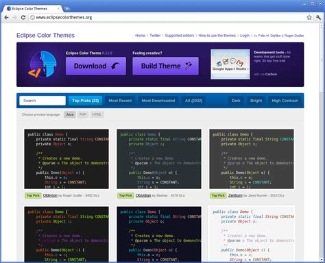 eclipse themes best eclipse color theme ubercode